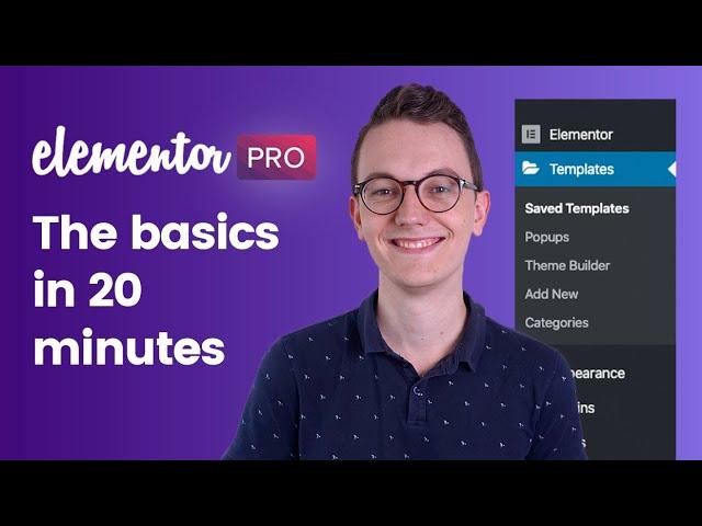 Elementor Pro WordPress Tutorial - The basics in 20 ...